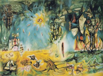 """The Earth"" by Roberto Matta. This painting does to the eyes what Stelar does the the ears."