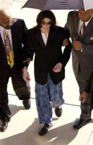 Jackson on his way into court